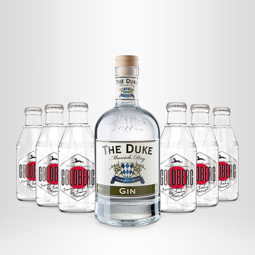 THE DUKE, Munich Dry Gin, 0,7l + 6x GOLDBERG Japanese Yuzu Tonic, 0,2l