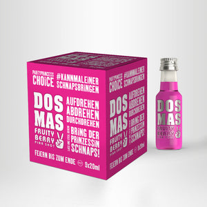 DOS MAS PiNK SHOT Partywürfel (PET), 9x20ml
