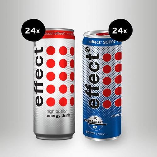 24x effect® Energy Drink, 0,33l + 24x effect® Whey with Energy Drink (SCP-Edition), 0,25l
