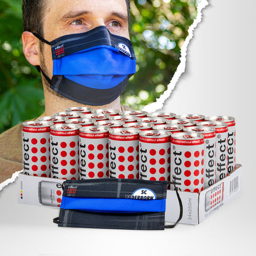 effect® Community-Maske, SC Paderborn 07 + 24x effect® Energy Drink, 0,25l