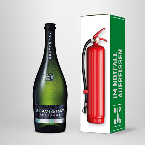 "Prosecco in Geschenkbox – SCAVI & RAY nach Wahl – ""Emergency Kit"""