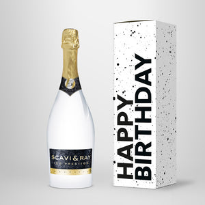 "Prosecco in Geschenkbox – SCAVI & RAY nach Wahl – ""Happy Birthday"""