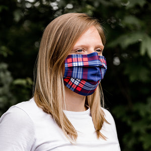 greatr® Community-Maske, Plaid, waschbar