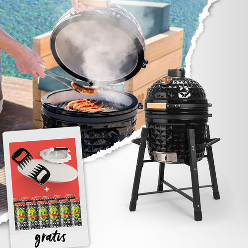 SALITOS Keramikgrill Klassik + Grillparty-Bundle