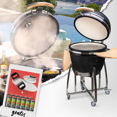 SALITOS Keramikgrill Koloss + Grillparty-Bundle