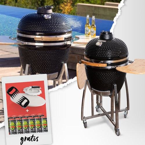SALITOS Keramikgrill XL + Grillparty-Bundle