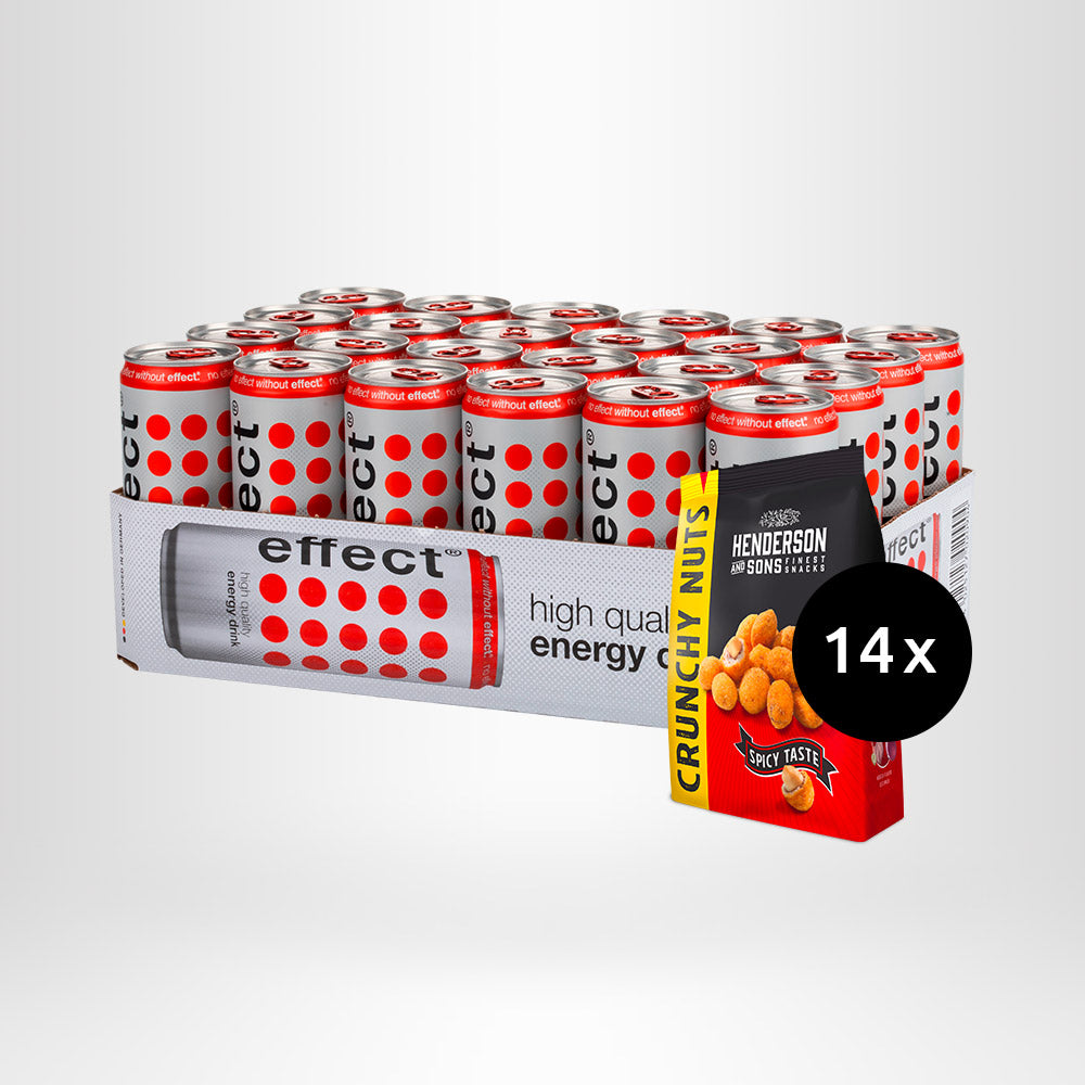 HENDERSON & SONS Crunchy Nuts + 24x effect® Energy Drink
