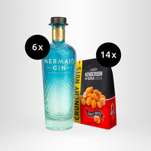 HENDERSON & SONS Crunchy Nuts + 6x MERMAID Gin