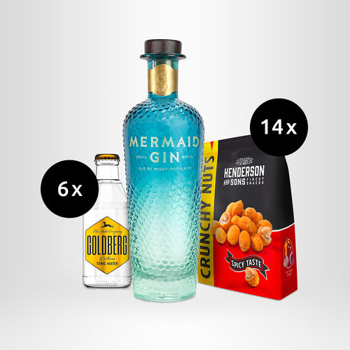HENDERSON & SONS Crunchy Nuts + MERMAID Gin + GOLDBERG Tonic Water