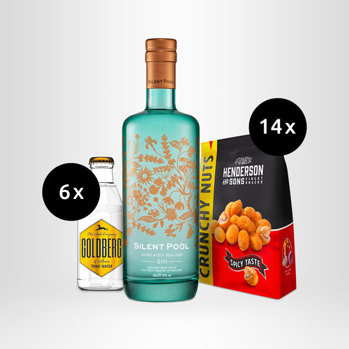 HENDERSON & SONS Crunchy Nuts + Silent Pool Gin + GOLDBERG Tonic Water