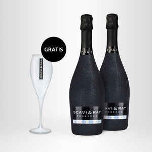 2x SCAVI & RAY Spumante Bling-Bling-Edition, 0,75l + Proseccoglas GRATIS