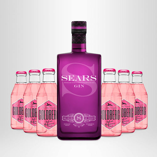 SEARS Gin, 0,7l + GOLDBERG Indian Hibiscus Tonic, 6 x 0,2l