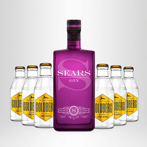 SEARS Gin, 0,7l + GOLDBERG Tonic Water, 6 x 0,2l