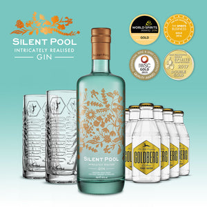 Silent Pool Gin + 2x GOLDBERG Highball-Glas + 6x GOLDBERG Tonic Water GRATIS – versandkostenfrei