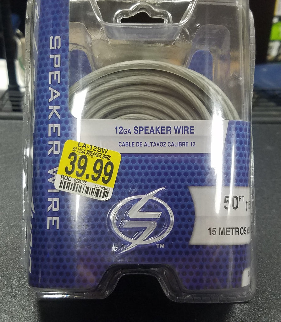 Lightning Audio LA-12SW 12GA Speaker Wire 50 FT