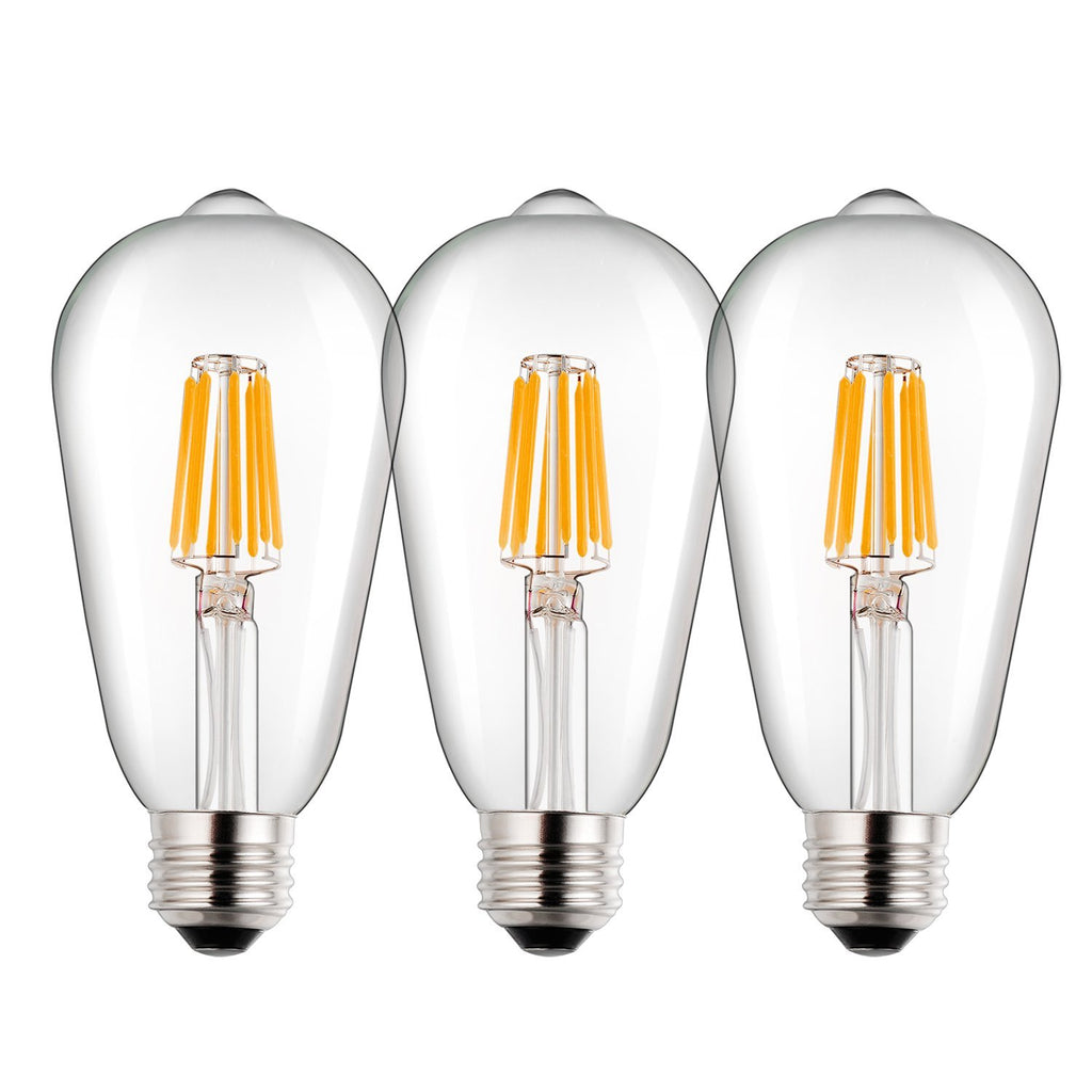 Bogao ST64 Vintage Edison LED Bulb, Dimmable 8W Antique LED Bulb Filament Light