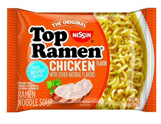Nissin Top Ramen Chicken Flavor, 3oz (24 Pack)