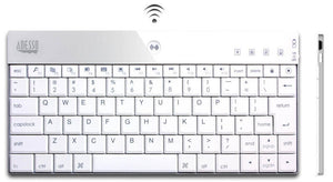 Adesso WKB-1000BW Mini Bluetooth Keyboard 84-Key US Layout