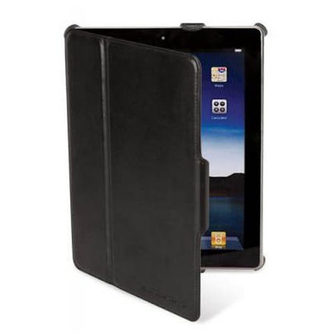 Image of Scosche IPD2FLBK Leather iPad Folio Case w/ Suede Interior (Black)