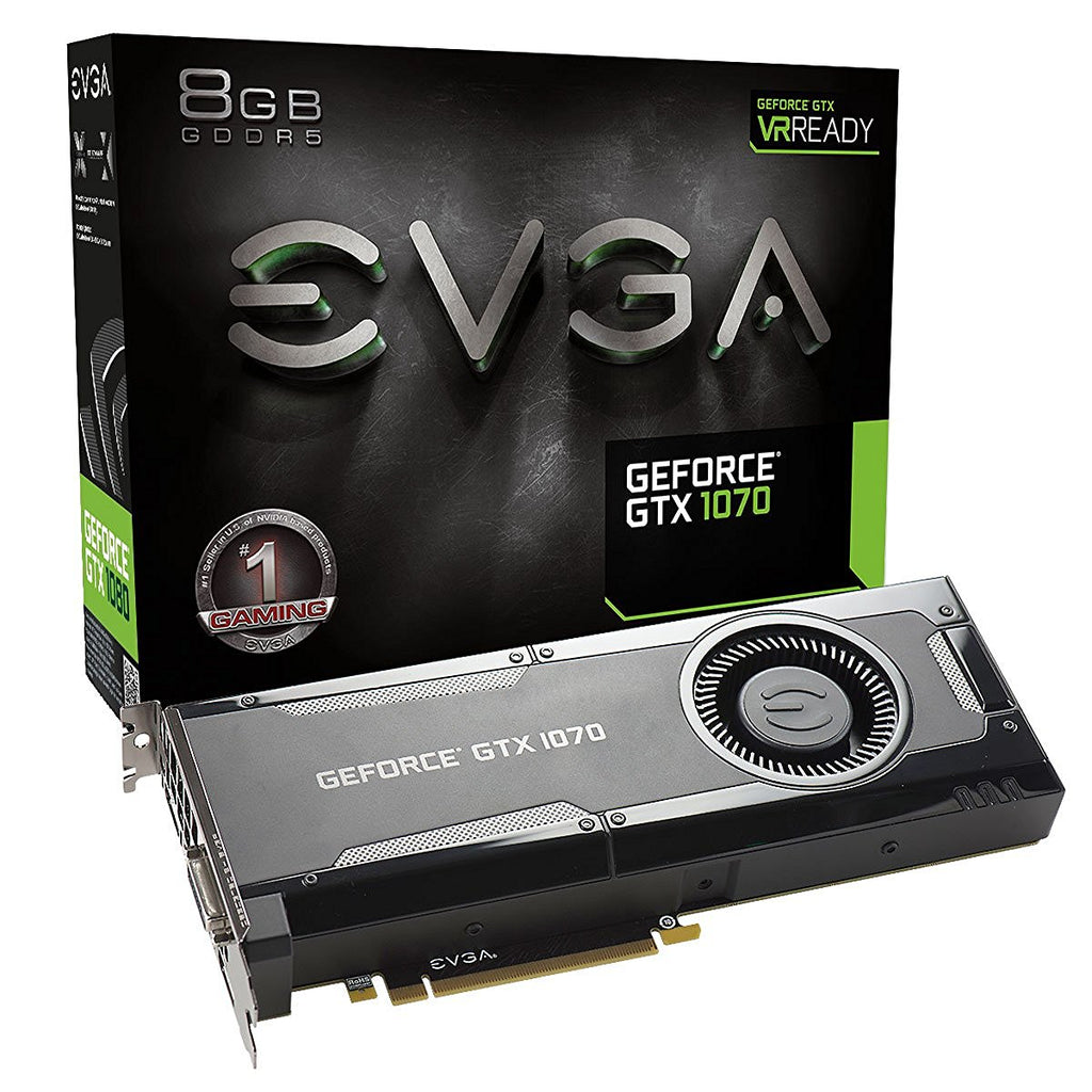 EVGA GeForce GTX 1070, 8GB GDDR5, DX12 OSD Support (PXOC) Graphics Card