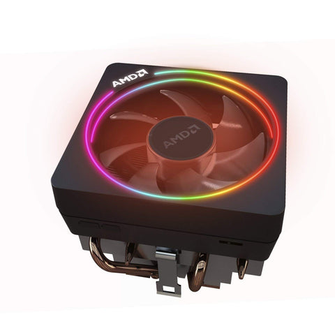 Image of AMD Wraith Prism LED RGB Cooler Fan from Ryzen 7 2700X Processor AM4AM2AM3AM3 4-Pin Connector Copper BaseAlum Heat Sink