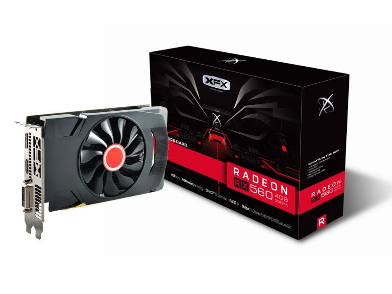 XFX RX-560D2SFG5 Radeon RX 560D Graphic Card - 1.20 GHz Core - 2 GB GDDR5 - Dual Slot Space Required