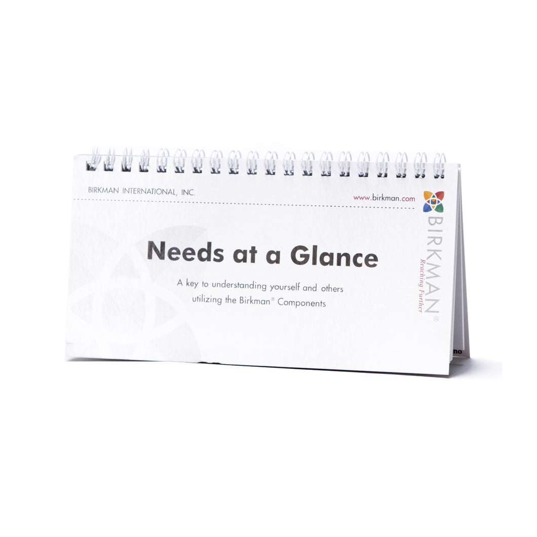 Needs at a Glance Booklet