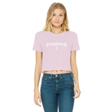 Tombstoned Range Classic Women's Cropped Raw Edge T-Shirt