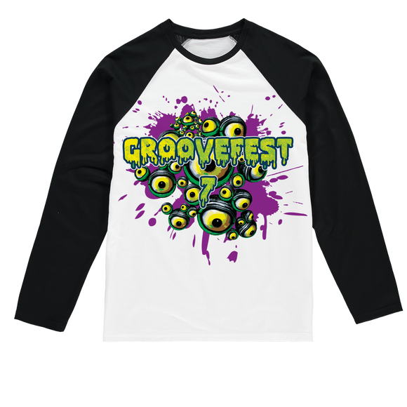 Groovefest Range Sublimation Baseball Long Sleeve T-Shirt