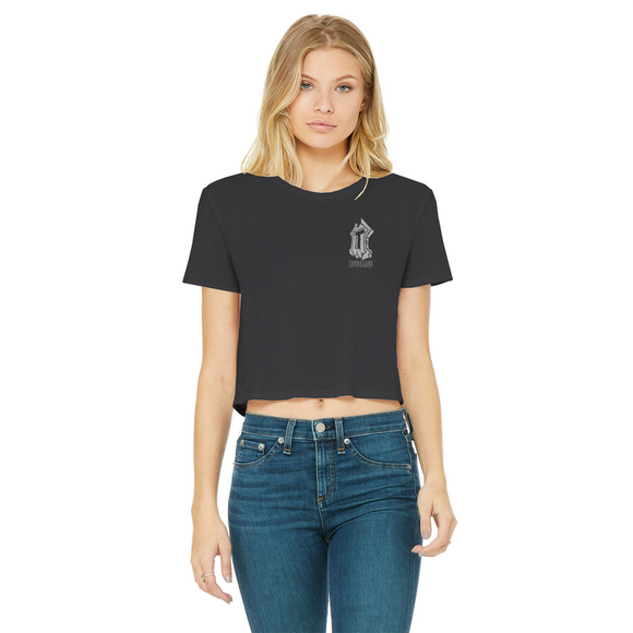 Tombstone Entertainment Range Classic Women's Cropped Raw Edge T-Shirt