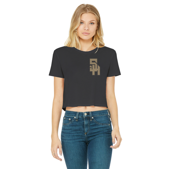 Stonehurst Gold Range Classic Women's Cropped Raw Edge T-Shirt