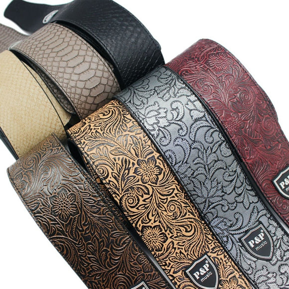 P&P PU Leather Guitar Strap