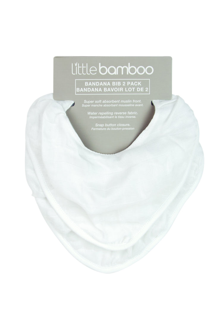 Little Bamboo Muslin Bib 2Pk - Natural