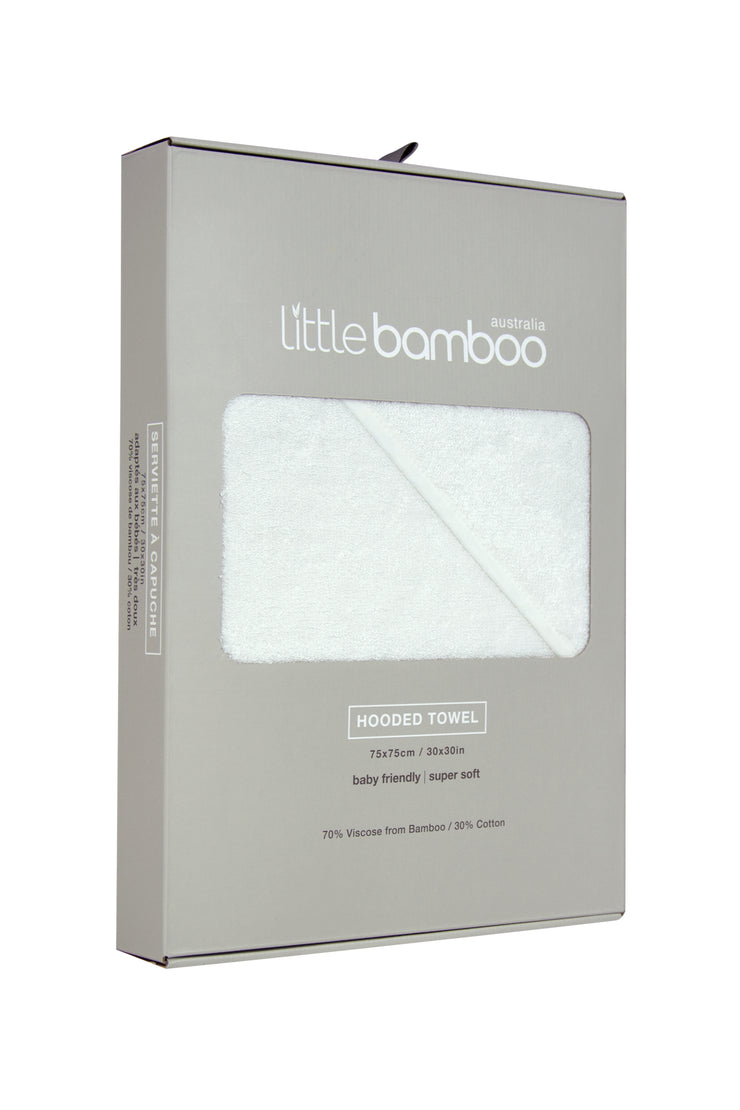 Little Bamboo Hooded Towel - Natural
