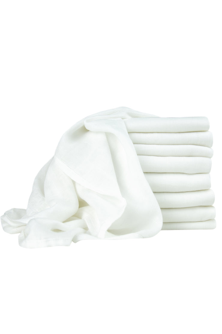 Little Bamboo Mini Muslin 8PK - Natural