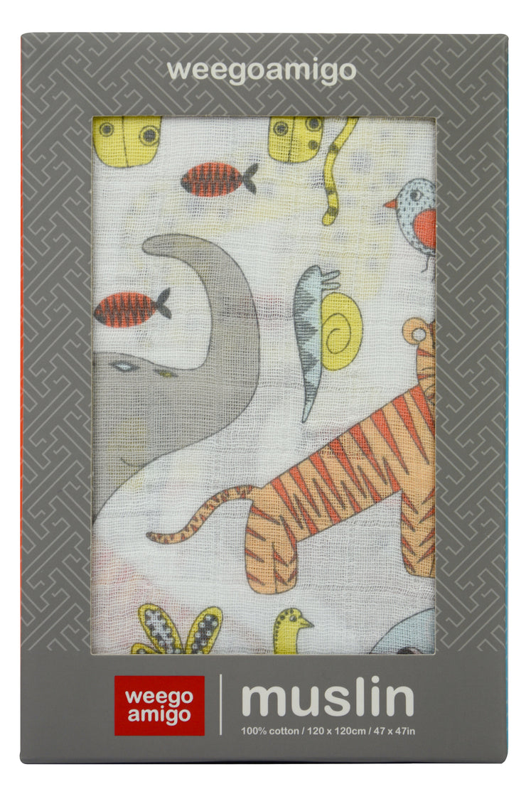 Weego Muslin 1Pk Prints - Wildlife