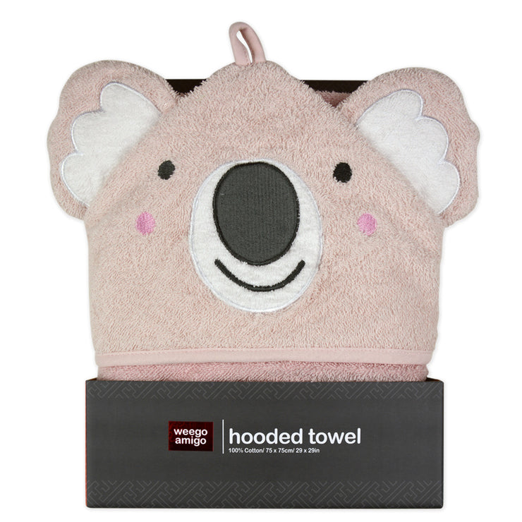 Weego Colourplay Hooded Towel - Pink Koala