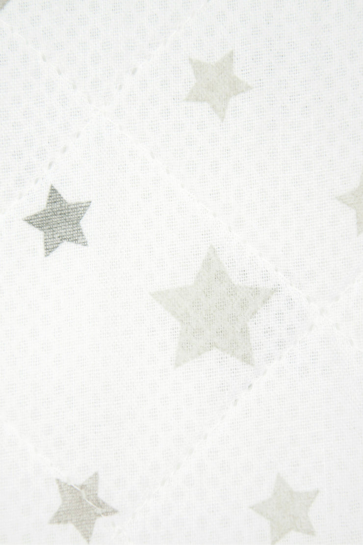 Airwrap Cot Liner Muslin 4 Sides - Star Silver