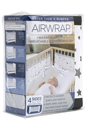 Airwrap Muslin 4 Sides - Star Charcoal