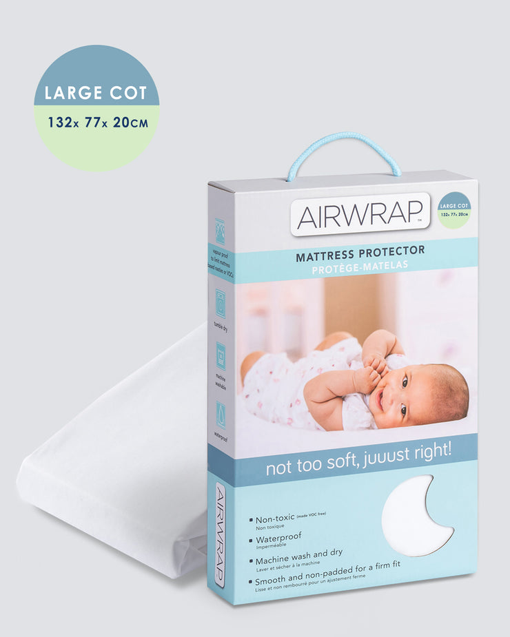 Airwrap Mattress Protector - Large Cot