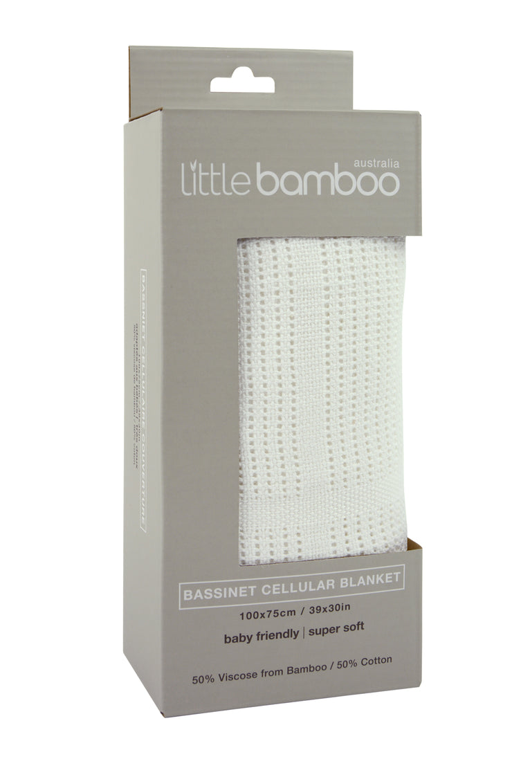 Little Bamboo Bassinet Cellular Blanket
