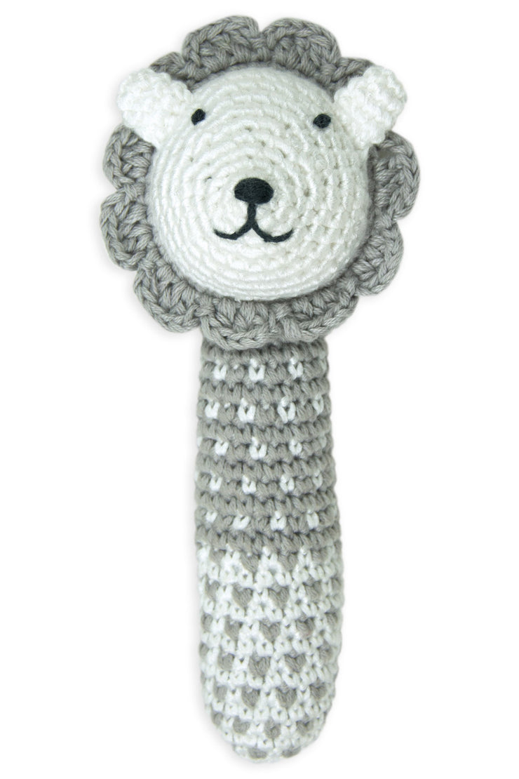 Little Bamboo Crochet Rattle - Lewis the Lion