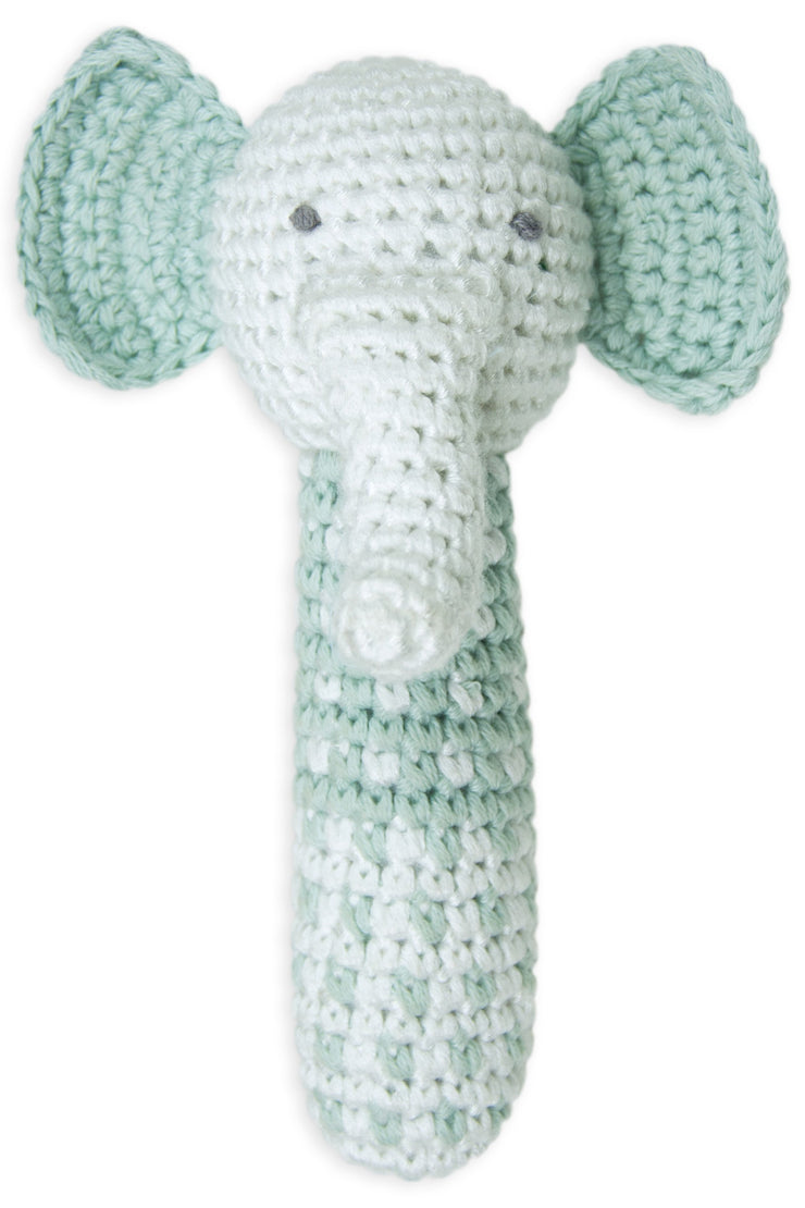 Little Bamboo Crochet Rattle - Emerson the Elephant