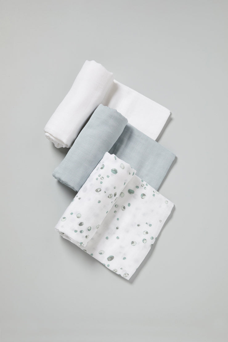 Little Bamboo Muslin Wraps 3pk - Whisper