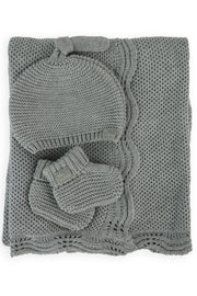 Little Bamboo Textured Knit Gift Set - Marle Grey
