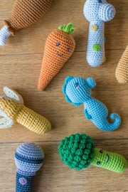 Crochet Rattle - Broccoli