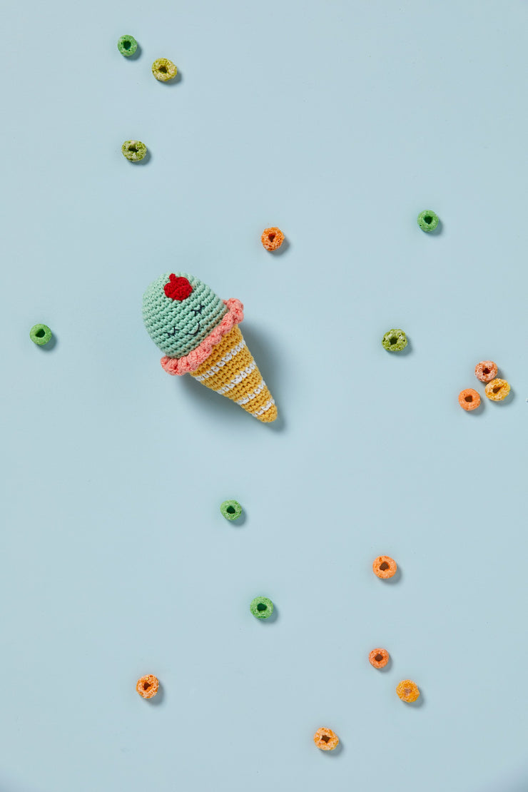 Crochet Rattle - Icecream