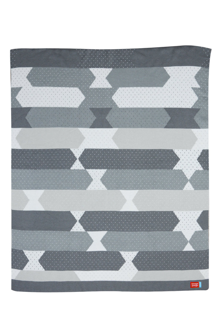 Bestee Bamboo Knit Blanket - Como Charcoal