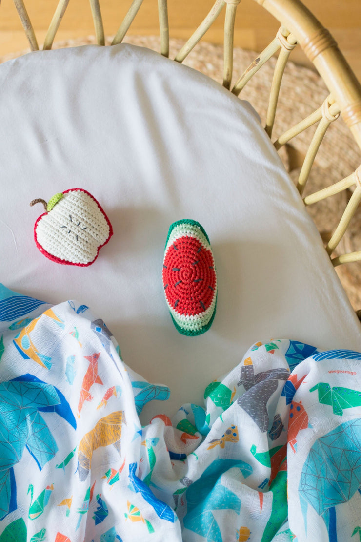 Crochet Rattle - Watermelon