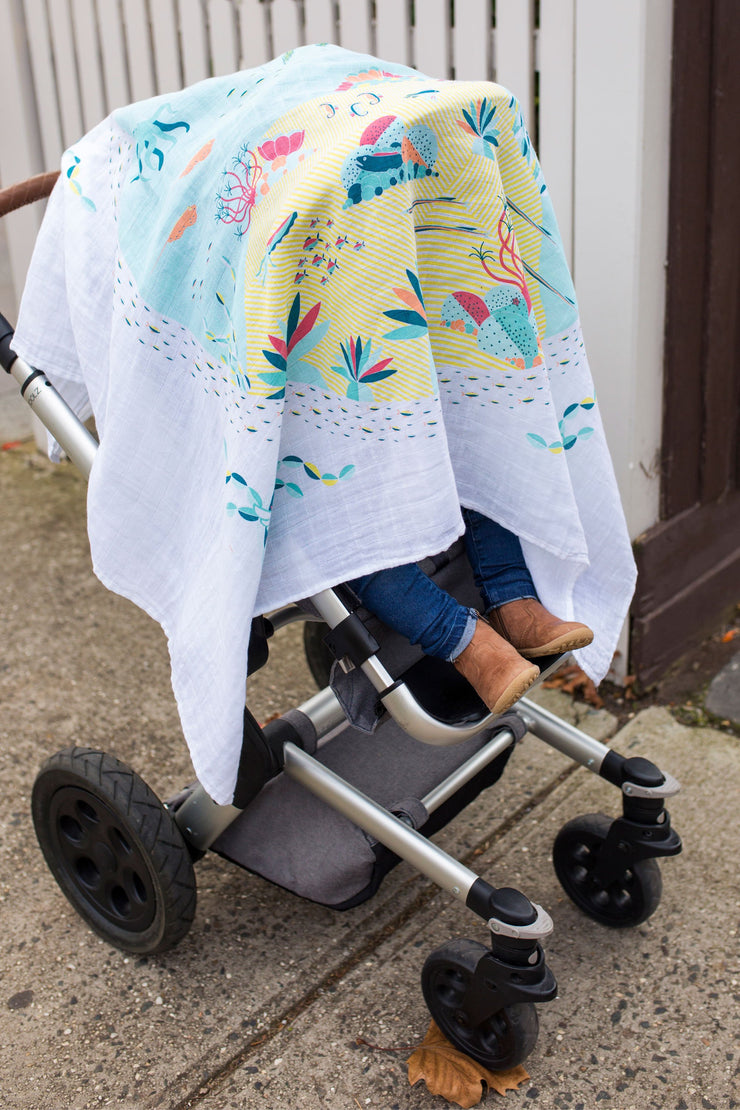 Weego Muslin 1pk Prints WOW - Reef